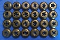 Lot Of 24 Rollerblade Inline Fitness Hockey Skate Wheels 70mm 82a