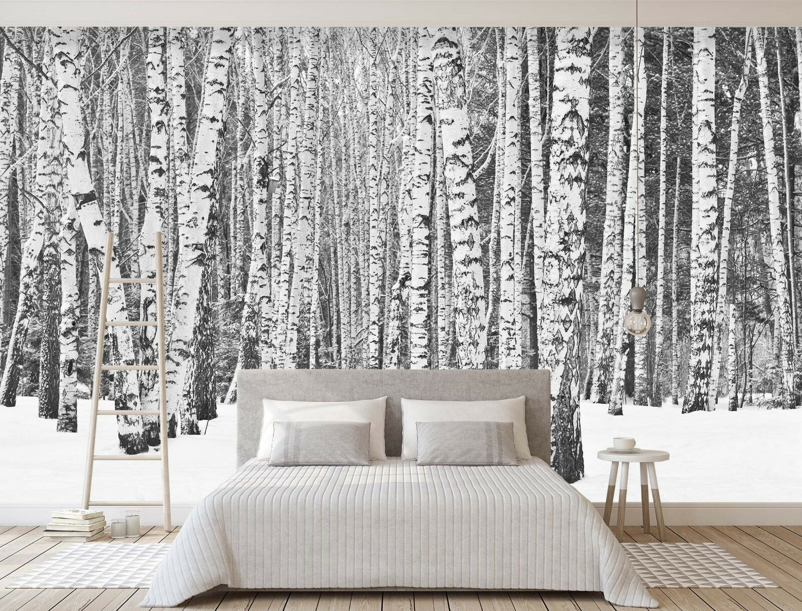 3D White Snow Tree 813 Wallpaper Mural Paper Wall Print Indoor Murals CA Summer