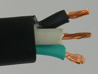 NEW 50/' 10//3 SOOW SO SOO SOW BLACK RUBBER CORD EXTENSION WIRE//CABLE