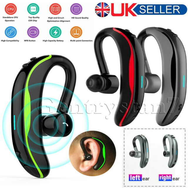 F600 Handsfree Wireless Bluetooth Headset Stereo Earbud Earpiece For Car Driving