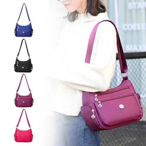 Damen Multi Pocket Casual Cross Body Handtasche Reise wasserdichte Nylontaschen