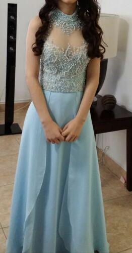 Used long blue prom dresses