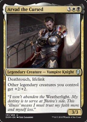 4 x ARVAD THE CURSED NM mtg Dominaria Gold Vampire Knight Unc