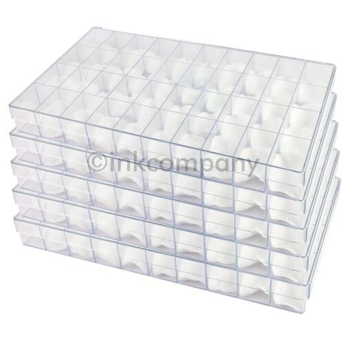 5 x 40er Sorting Box Sorting Boxes Sortiment Boxes + Cotton Pads Transparent New