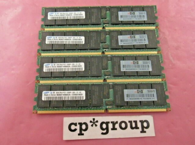 Micron 32GB 4x8GB 2Rx4 PC2-5300P DDR2 DIMM ECC REG Registered Server RAM