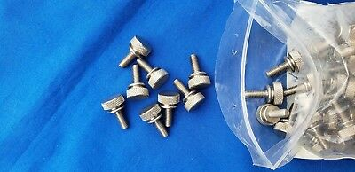 91830A404 Stainless Steel Raised Knurled-Head Thumb Screws  SOLD SEPARATELY