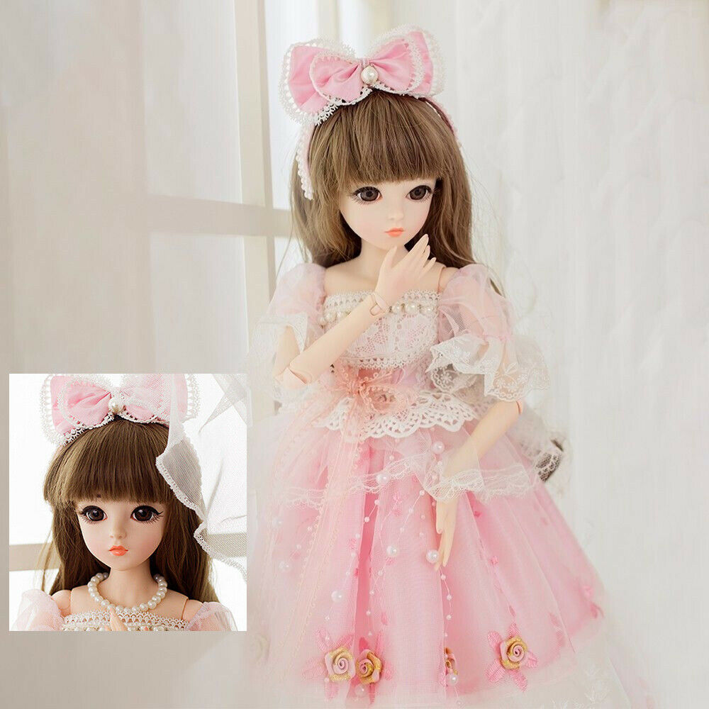 Girl Gift Toy BJD Doll 1//3 Ball Jointed Makeup Dolls Eyes Dress Clothes Wig Hair