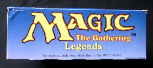 MTG Legends Limited Edition Black Bordered Booster EMPTY Box WOTC Amricons