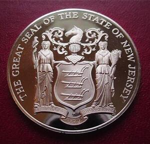 NEW-JERSEY-Official-Sterling-Silver-Bicentennial-PROOF-Medal