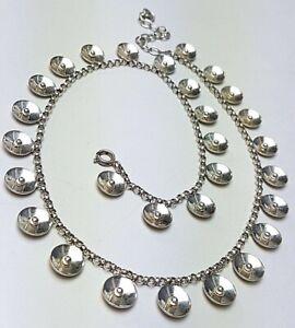 Design-Silber-Collier-40er-60er-Jahre-835-Silber-punziert-42-48-cm-Laenge-A256