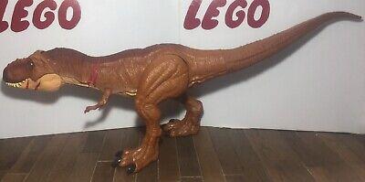 "Jurassic World Battle Damage Roarin /""Super Colossal Tyrannosaurus Rex Figure"