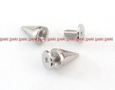 Metal Cone Screwback Spikes 7x9mm Studs Spots Punk Spikes 50,100 U Pick N82