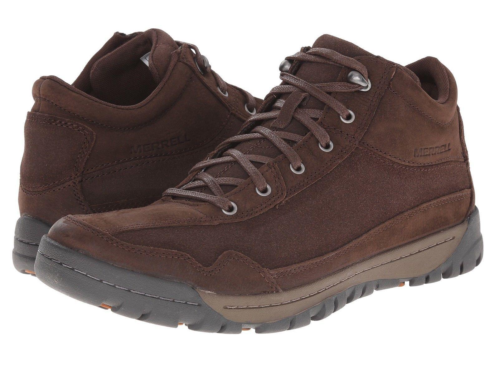 NWT Men Merrell Traveler Field Mid Hiking Boot Walking Sneaker Leather Size 7-11