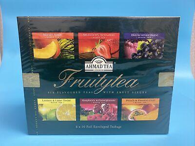 Ahmad Tea Twelve Teas Variety Gift Box 60 Foil Enveloped Teabags