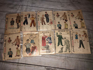 Simplicity-Boys-Teens-Lot-of-10-Vintage-Sewing-Patterns-2049-4188-Clothes-Robes