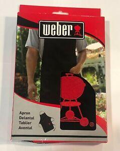 Weber Apron 6533 Red  & Black Front Pocket Adjustable Machine Wash