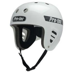 Protec Fullcut Skate Helmet White  Size Large Skate Scooter Pro-Tec