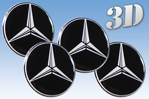 Wheel stickers Mercedes 58mm size Centre Cap Logo Badge Wheel Trims 3d