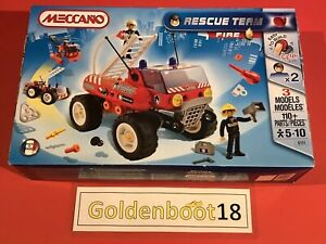 MECCANO-6111-3-MODELS-FIRE-ENGINE-TRUCK-RESCUE-TEAM-BUGGY-110-PARTS-NEW-SEALED