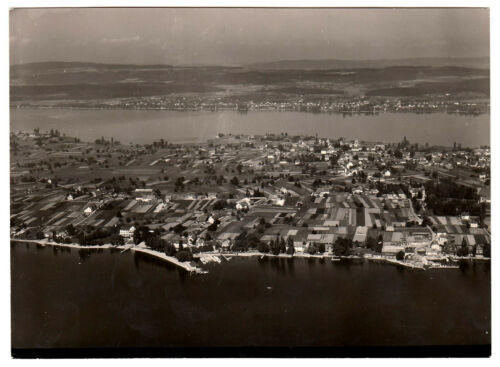 Bodensee REICHENAU Stadigasse * Strähle Luftbild um 1955 * 13 x 18 cm