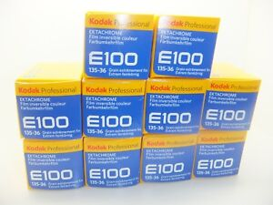 10 x KODAK E100 35mm 36 Exp CHEAP COLOUR SLIDE FILM by 1st CLASS ROYAL MAIL