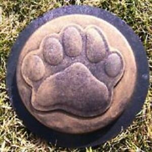 heavy duty plastic bear paw stepping stone mold concrete mould