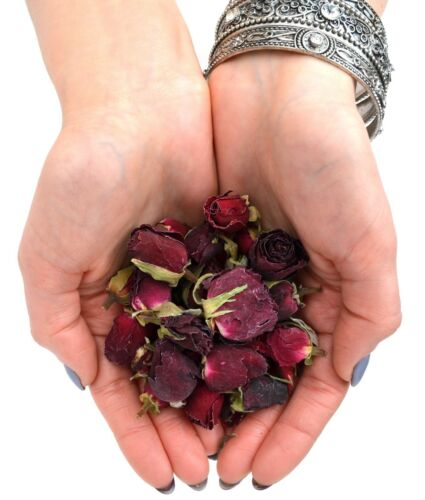 Red Rose Buds Bath Bombs Dried Rose Flowers Soap Crafts Candle Potpourri