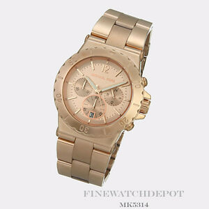 128f49b9019 Authentic Stainless Steel Women s Dylan Rose Gold-Tone Michael Kors ...