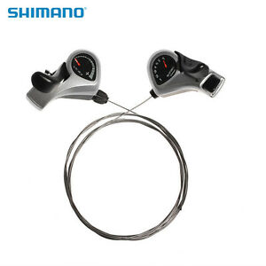 SHIMANO Bike Tourney SL-TX50 Index Thumb Shifters Shift Levers 3x7 Speed