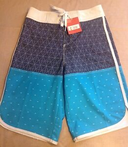 07fac557a0da5 New! Mossimo Men's Board Shorts Size 28, Swim Trunks, Stretch Blue ...