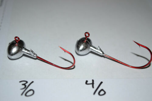 3//8 football jig heads 4//0 RED EAGLE CLAW HOOK 25 pk bass walleye