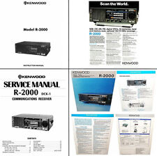 OPERATING / SERVICE MANUALS + COLOR DOCUMENTS for the KENWOOD R-2000 - PHOTOCOPY