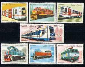 Guinea-Bissau-1989-Trains-Rail-Transport-7v-set-n22527a