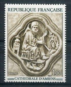 100% De Qualité France - 1969, Timbre 1586, Bas-relief Cathedrale Amiens, Série Art, Neuf**