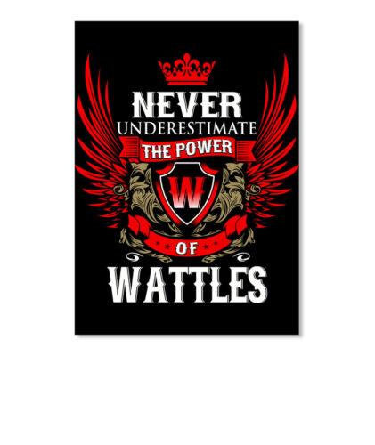 Details about  /Never Under-estimate Power Of Wattles Sticker Portrait