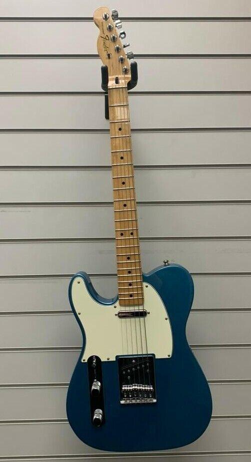 This pre-owned left handed Fender Telecaster guitar is for sale - Fender Player Telecaster Electric Guitar - Tidepool Blue - Left Handed