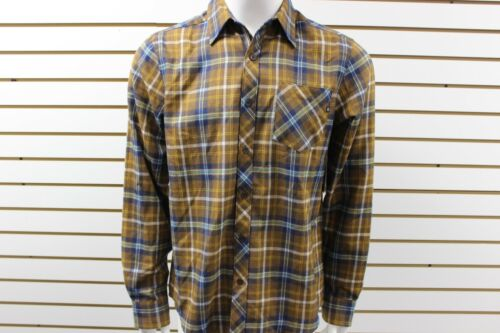 Men/'s Marmot Central Flannel Long Sleeve Plaid Button-Up Shirt Coffee 50830 NWT