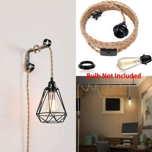 DIY 1 Light Hemp Rope Pendant Light Cord Kit w/ Switch ...