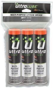 Ultra Lube 10300 Multi-Purpose Biobased Lithium Gease, (3 Pack) - 3 oz.