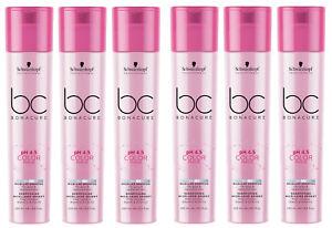 6x-Schwarzkopf-BC-BONACURE-Color-Freeze-Silver-Silber-Shampoo-coloriert-250ml