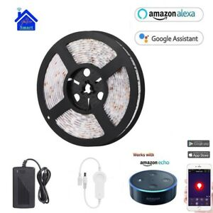Details about 5M Smart Wifi RGB LED Strip Lights XMAS Kitchen Cabinet  Ceiling For Alexa