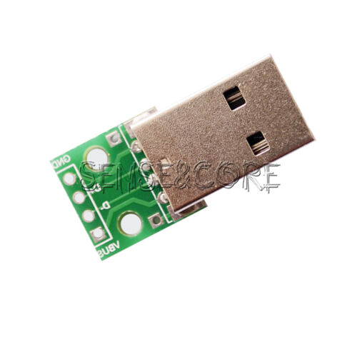 2Stks Male USB to DIP Adapter Converter 4pin 2.54mm PCB Board DIY Power Supply