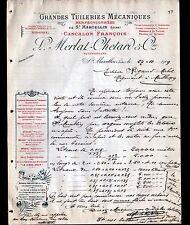 "SAINT-MARCELLIN (42) TUILERIE ""François CANCALON / L. MERLAT & CHETARD"" en 1909"