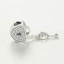 Authentic Pandora Lock of Love Sterling Silver Clear CZ Bead Charm 791429CZ