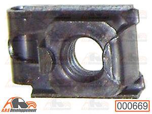 ECROU-CAGE-M7-fixation-pare-chocs-amp-chassis-caisse-Citroen-2CV-DYANE-AMI6-669