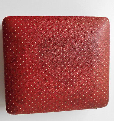 Vintage jewellery case EMPTY box for cufflinks studs polka dot for men or ladies