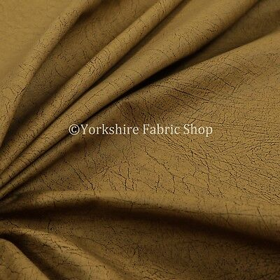 Soft Clay Feel Smooth Aged Effect Leather Yellow Colour Vinyl Upholstery Fabric