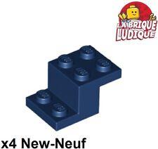 Lego - 4x Bracket support 3x2x1 1/3 bleu foncé/dark blue 18671 NEUF