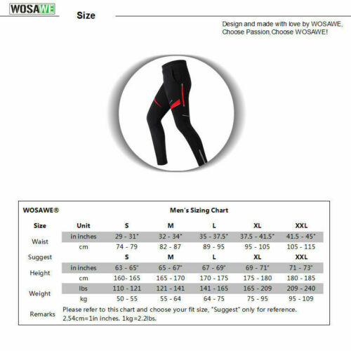 Men Cycling Long Pants Windproof Trousers Thermal Legging MTB Bike Pants Winter
