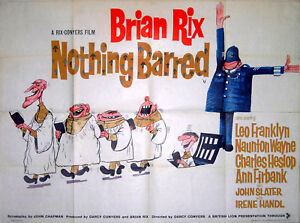 NOTHING-BARRED-1961-Brian-Rix-Leo-Franklyn-Naunton-Wayne-GILES-UK-QUAD-POSTER